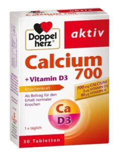 Viên uống bổ sung canxi Doppelherz Calcium 700 + vitamin D3, 30 viên