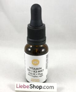 Vitamin D3 + K2 MK7 SUNDAY NATURAL 200 IU + 15µg chống còi xương, tăng chiều cao, 20ml