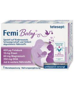 Vitamin tổng hợp cho bà bầu Tetesept Femi Baby, 60 viên, dùng 1 tháng