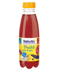 Nước ép trái cây Bebivita Frucht & Eisen bổ sung sắt cho trẻ từ 6 tháng tuổi, 500ml