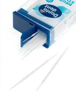 Tăm xỉa răng Dontodent Brush Sticks que nhựa 2 đầu, 150 chiếc