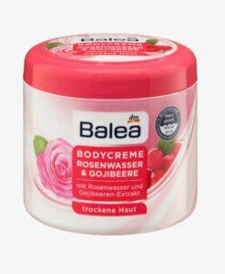 Kem dưỡng thể Balea Bodycreme Rosenwasser & Gojibeere hoa hồng, 500ml