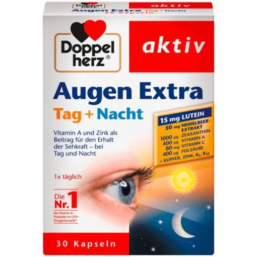 Viên uống bổ mắt Doppelherz Augen Extra Tag + Nacht, 30 viên