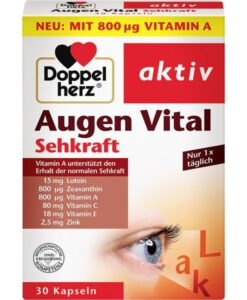Viên uống bổ mắt Doppelherz Augen Vital Kapseln, 30 viên