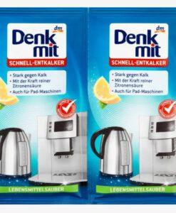 Bột tẩy cặn nhanh Denkmit Schnell Entkalker, 2 gói x 25g