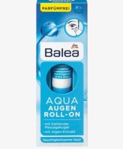 Lăn dưỡng mắt Balea AQUA Augen Roll-On giảm nếp nhăn, bọng mắt, 15ml