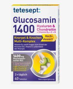 Viên uống bổ sụn khớp Tetesept Glucosamin 1400, 40 viên