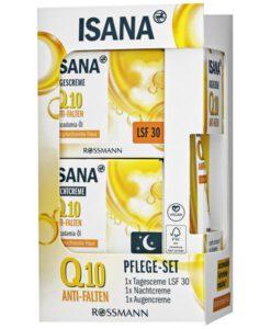 Bộ kem dưỡng ngày đêm và kem mắt ISANA Q10 Anti-Falten giảm nếp nhăn, chống lão hóa, 1 bộ
