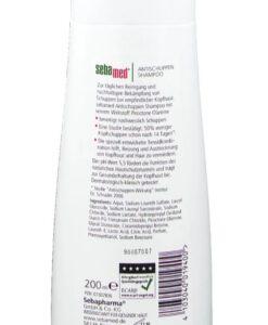 Dầu gội trị gàu sebamed AntiSchuppen Shampoo, 200ml