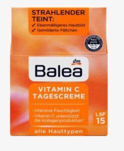 Kem dưỡng da Balea Vitamin C LSF15 làm sáng da, mờ nám, giảm nếp nhăn, 50ml