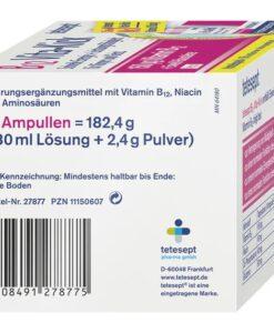 Chai uống Tetesept B12 Vita-Kick tăng cường sức khỏe thể chất và hệ thần kinh, 18 ống
