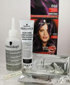 Thuốc nhuộm tóc Brillance Intensiv Color Creme 888 Dunkle Kirsche - màu anh đào đậm (tím), 1 hộp