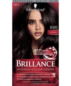 Thuốc nhuộm tóc Brillance Intensiv Color Creme 890 Black- màu đen, 1 hộp