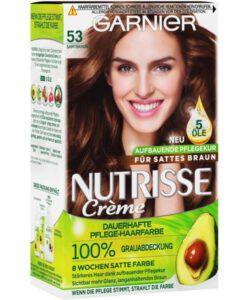 Thuốc nhuộm tóc Garnier Nutrisse 53 Samtbraun - màu nâu hạt dẻ, 1 hộp