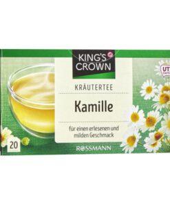 Trà hoa cúc King's Crown Kräutertee Kamille dạng túi lọc, 20 gói