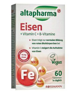 Viên sắt altapharma Eisen + Vitamin C + B-Vitamine, 60 viên
