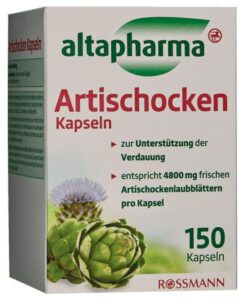 Viên uống bổ gan mật altapharma Artischocken Kapseln, mát gan, thải độc, 150 viên