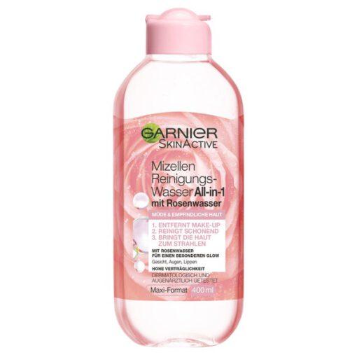 Nước tẩy trang Garnier Mizellen mit Rosenwasser chiết xuất hoa hồng, 400 ml