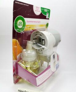 Combo ổ cắm tinh dầu Air Wick + chai tinh dầu Air Wick hương mùa hè, 19ml