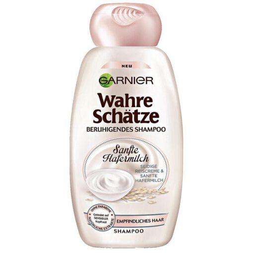 Dầu gội GARNIER Wahre Schätze Beruhigendes yến mạch cho tóc và da đầu nhạy cảm, 250ml