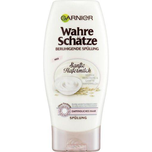 Dầu xả GARNIER Wahre Schätze Beruhigendes yến mạch cho tóc và da đầu nhạy cảm, 200ml