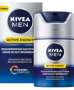 Kem dưỡng da NIVEA MEN Active Energy Regenerierende Nachtcreme + vitamin E, 50ml