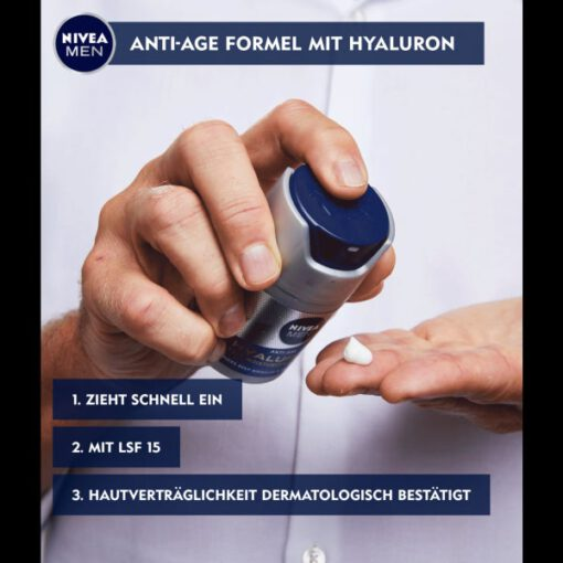 Kem dưỡng da NIVEA MEN Anti-Age Hyaluron chống lão hóa, giảm nhăn, 50ml