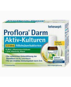 Men tiêu hóa tetesept Proflora Darm Aktiv-Kulturen, 7 ống