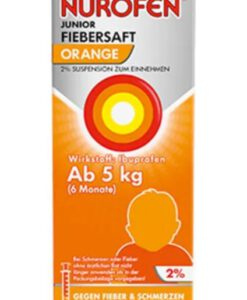 Siro hạ sốt Nurofen Junior Fiebersaft Orange 2% cho trẻ sơ sinh từ 6 tháng tuổi (vị cam), 100ml