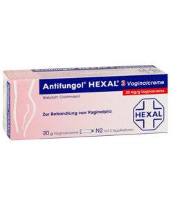Thuốc đặt phụ khoa Antifungol HEXAL 3 Vaginalcreme 20 mg/g dạng kem, 1 hộp