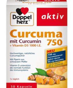 Viên tinh chất nghệ Doppelherz Curcuma 750, 30 viên