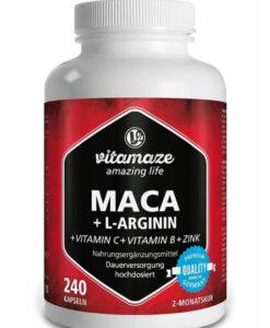 Viên uống tăng cường sinh lý Vitamaze MACA + L-Arginin, 240 viên