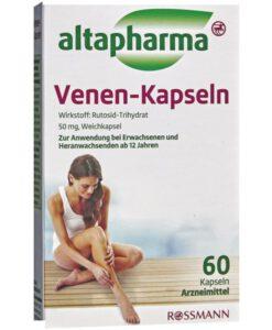 Viên uống trị giãn tĩnh mạch altapharma Venen Kapseln, 60 viên