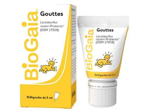 Men vi sinh BioGaia Gouttes cho trẻ sơ sinh và trẻ em, 5ml