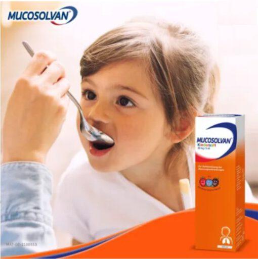 Siro ho Mucosolvan Kindersaft 30 mg/5 ml trị ho long đờm, 100ml