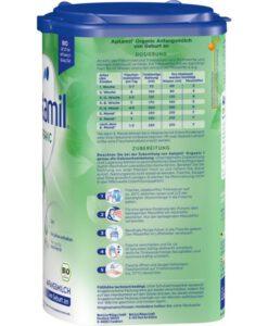 Sữa Aptamil Organic số 1 Bio Anfangsmilch cho bé từ 0-6 tháng tuổi, 800g