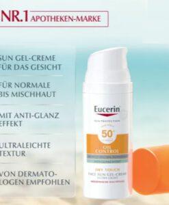 Kem chống nắng Eucerin Oil Control Face Sun Gel-Creme LSF50+ kiểm soát dầu, 50ml