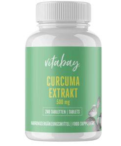 Viên tinh bột nghệ Vitabay Curcumin mit Bioperin 500 mg, 240 viên