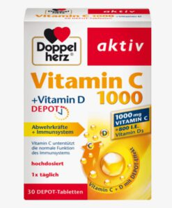 Viên uống Doppelherz Vitamin C 1000 Depot, 30 viên