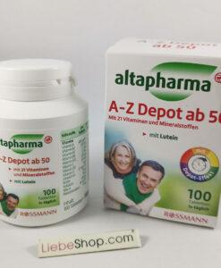Vitamin tổng hợp altapharma A-Z Depot ab50 cho người trên 50 tuổi, 100 viên