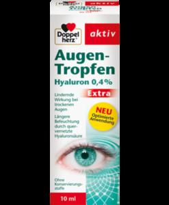 Thuốc nhỏ mắt Doppelherz Augen-Tropfen Hyaluron 0,4 % Extra, 10ml