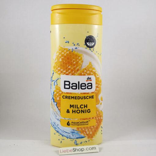 Sữa tắm Balea Cremedusche Milch & Honig chiết xuất sữa và mật ong, 300ml